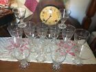 Lot of 16 Anchor Hocking Boopie Glass Candlewick Glasses Water Juice Dessert