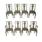 Custom Venetian Hand Painted Set of 8 Dining Chairs