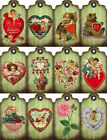12 VALENTINES DAY CAT CHERUB HEART HANG GIFT TAGS FOR SCRAPBOOK PAGES 36