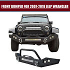 Fit 07 18 Jeep Wrangler JK 120W LED Light Bar Set Front Bumper Winch Plate