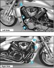 Suzuki M 1800 (VZ) R Intruder Engine protection bar Chrome BY HEPCO AND BECKER
