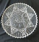 Pioneer by Federal Glass Clear Intaglio Cake Plate or Chop Plate Round Platter