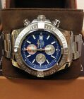 Breitling Super Avenger II A13371 Blue Baton Dial BOX AND PAPERS 2018