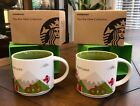 2 Starbucks Portland You are Here YAH Collector Mugs 14 Oz in Boxes