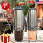 Electric Pepper Salt Grinder Shaker Mill Battery Operated Auto StainlessSteel US