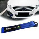 Blue JDM Rising Sun Pattern Decal Towing Hook Front Rear Bumper Nylon Tow Strap