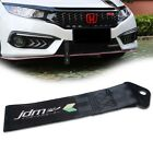 JDM Rising Sun Tow Strap Car Bumper Trailer Hauling Strap Towing Hook Tow Ropes