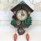 Handcrafted Wood Cuckoo Clock House Tree Style Wall Clock Vintage Home Decor US