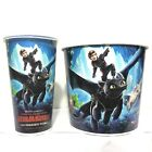 2pcs How To Train Your Dragon 3 Movie Cinemas Theatres Paper Cup Bucket Popcorn