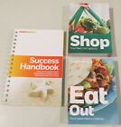 Lot of 3 Weight Watchers Success Handbook Shop Eat Out menu cart choices