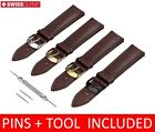 For ESPRIT Watch BROWN Leather Strap Band Buckle 18/19/20/21/22mm
