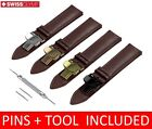 For ESPRIT  Watch BROWN Genuine Leather Strap Band Clasp 18/19/20/21/22mm