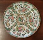 antique porcelain chinese rose medallion plate export 19th cent.    CRACK