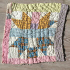 Antique Cutter Patchwork Quilt piece - great for crafts or pillows Vintage! #1