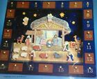 Kurt Adler J3767 Wooden Nativity Advent Calendar with 24 doors  12 Magnetic Pcs