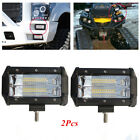 2x5iInch Diecast Aluminium Housing 72W LED Work Light Bar for Off Road Vehicle
