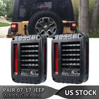 For Jeep Wrangler JK 07 17 LED Tail Lights Rear Reverse Brake Turn Signal US
