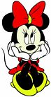 Minnie Mouse Car and Bumper Vinyl Decal Sticker 5 Sizes