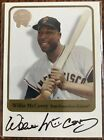 Willie McCovey 2001 Fleer Greats San Francisco Giants Autograph