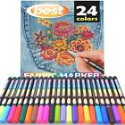 Best Permanent Fabric Markers 24 PENS Non Toxic Set of 24 Individual Colors