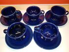 Fiestaware - Homer Laughlin - Tea Cup With Saucer - Cobalt Blue