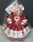 MINT Radko HEARTS AND FLOWERS MUFFY VANDER BEAR Christmas Ornament 99-NAB-04