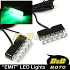 New EMIT Green Mini LED Fairing Blinker x2 For Aprilia Motorcycles Bikes