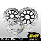 Front + Rear SS Brake Disc 3pcs For Laverda SFC 1000 03 04