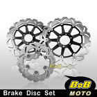 Front + Rear SS Brake Disc 3pcs For Benelli TNT 1130 Cafe Racer 05 06 07 08 09