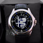 Alfa Romeo Logo for Men's or women leather Unisex Watches