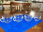 Vintage Cups Clear glass for Punch,Coffe,Tea lot of 4
