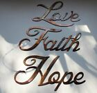 Love Faith Hope Words Metal Wall Art Accents