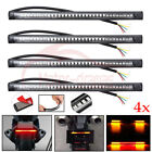 4X 42 LED Universal Flexible Motorcycle Light Strip Tail Brake Stop/Turn Signal