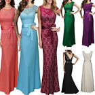 US Women's Formal Long Backless Prom Evening Party Bridesmaid Wedding Maxi Dress