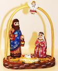 Alkota Russian Authentic Wooden Collectible Nativity Set 8H x 45W