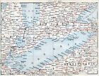Canada Ontario Erie 1907 small orig. map + guide (8 p.) Guelph Port-Huron London