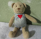 antique stuffed teddy  bear animal  doll toy OLD vintage  with RED heart /2/