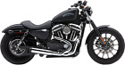 Cobra El Diablo 2 into 1 Exhaust for 2014 19 Harley XL Models Chrome 6493
