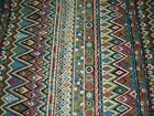 8 YDS MOTIONCRAFT SOUTHWEST NATIVE EMBROIDERED UPHOLSTERY FABRIC FOR LESS