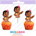 Baby Moana Cupcake Toppers Cakepop Toppers Moana Birthday Party Supplies