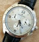 MAURICE LACROIX MIROS MI1057 CHRONOGRAPH St. Steel 38mm Men's Watch Excellent!!!