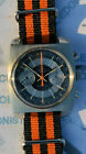 Rare chronograph tv 2 counters DICH WATCH period original steel