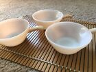Lot Of 3 Fire King Peach Luster Oven Ware Beehive Handled Soup Bowls