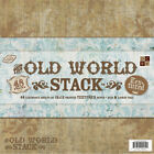 DCWV PAPER STACK 12X12 48 PKG OLD WORLD 24 DESIGNS 2 EACH