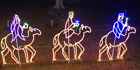 Nativity 3 Wise Men on Camels Holiday Outdoor LED Lighted Decoration Wireframe