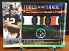 2010 Tools of Trade Terry Bradshaw jersey patch and shoe prime 01 50. non auto.