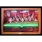Dogs Playing Pool Play Room Neon Sign Led Picture 36x24