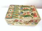 FINE OLD HAND PAINTED PENNA. DUTCH FOLK ART WOODEN BOX SIGNED