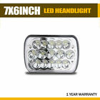 7x6 5X7 LED Headlight W/ DRL For 86-95 Jeep Wrangler YJ 84-01 Cherokee XJ Ram