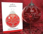 HALLMARK 2013 GLASS BALL SERIES ORNAMENT~ # 1 ~CHRISTMAS COMMEMORATIVE